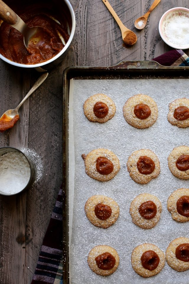Pumpkin Salted Caramel Thumbprint Cookies (8)