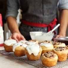 Baking Bootcamp:  Chocolate Hazelnut Rolls with Quick Puff Pastry