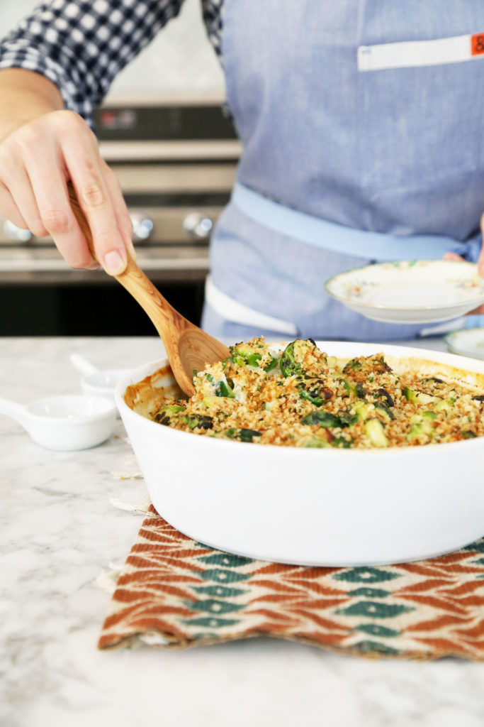 Creamy Smoked Gouda Brussels Sprouts