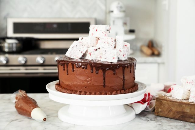 Dove Hot Chocolate Cake with Peppermint Marshmallows