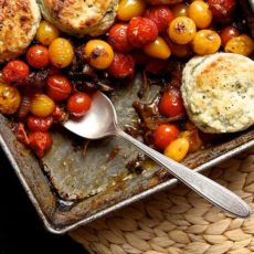 summer-tomato-cobbler-with-blue-cheese-biscuits
