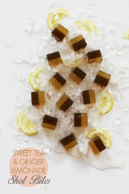 Sweet Tea, Bourbon, and Lemonade Shot Bites // joy the baker