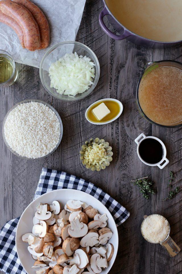 Sausage and Mushroom Risotto