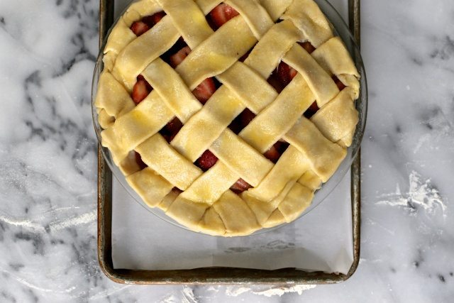 Strawberry Lattice Pie
