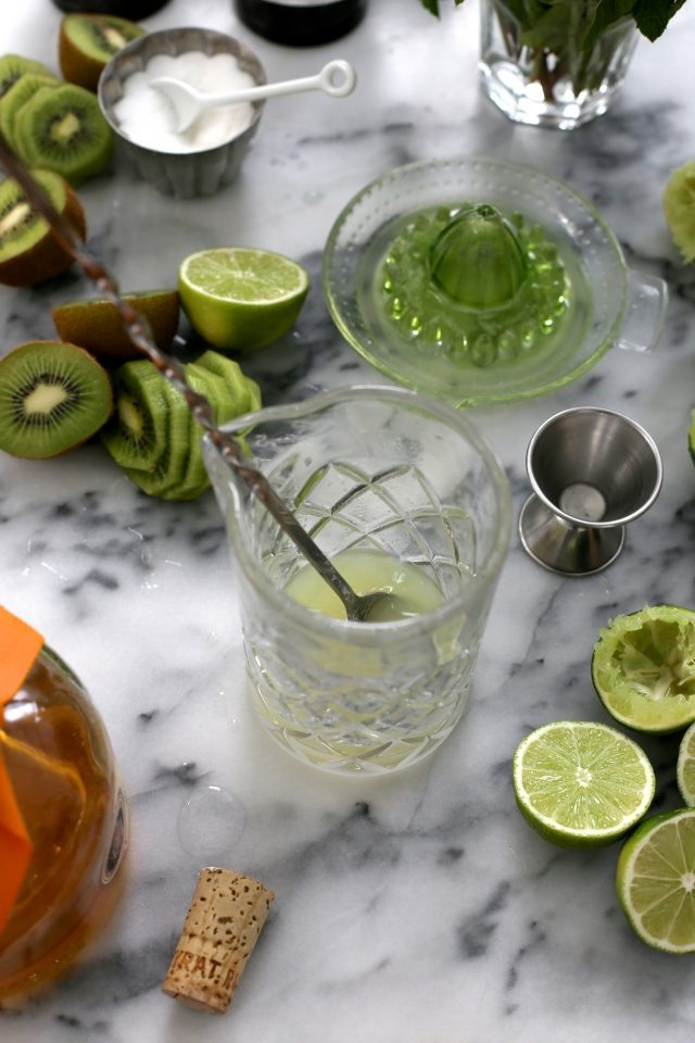 Kiwi Mint Mojitos