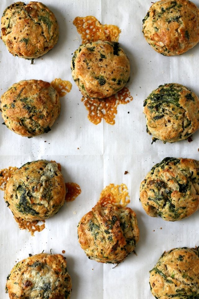 Spinach and Blue Cheese Biscuits