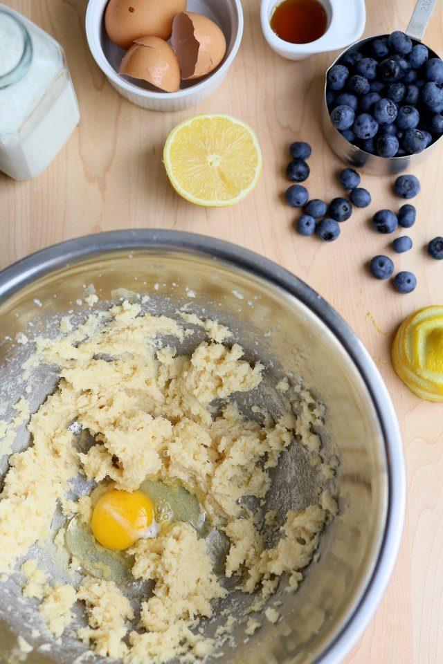 Gluten-Free Lemon Blueberry Coffee Cake with maple