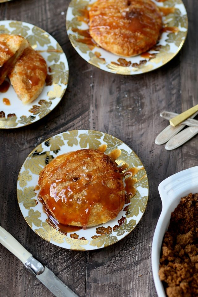 Fresh Apple Dumplings with Maple Salted Caramel