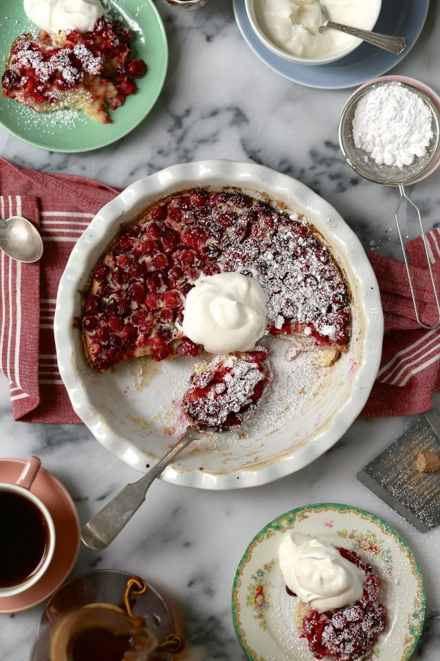 Cranberry Orange Clafoutis
