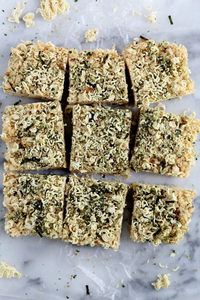 Ramen Rice Krispie Treats