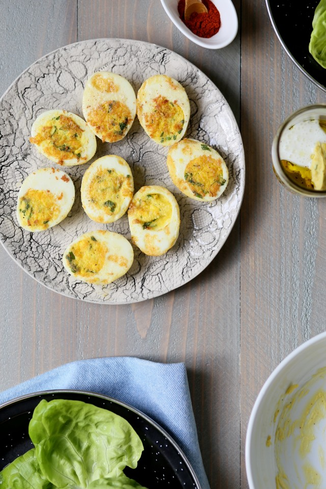 Jacques Pépin's Pan-Crisped Deviled Egg Salad