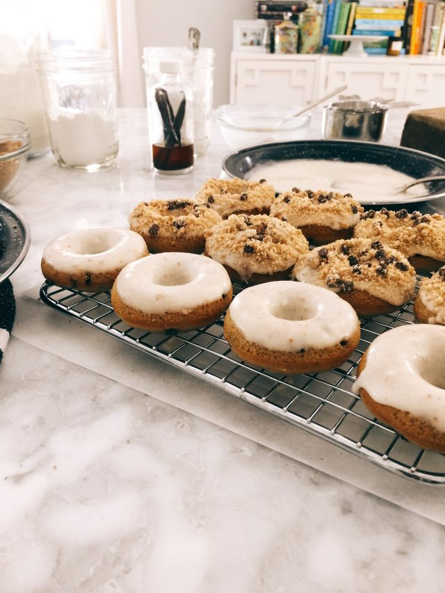 Mini Chocolate Chip Cookie Donuts