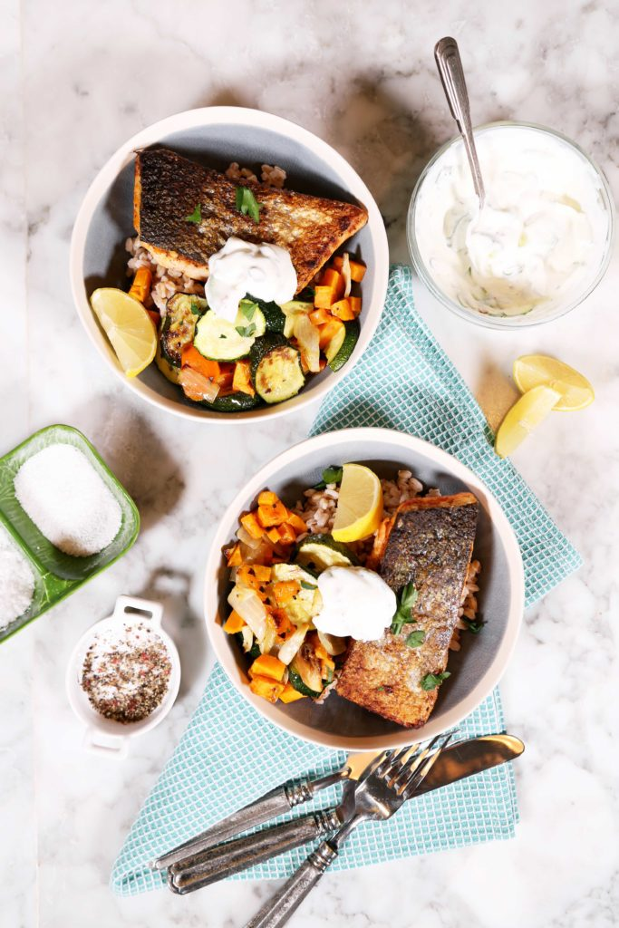 Bowl of Food: Pan Seared Salmon with Roasted Vegetables