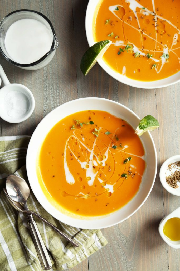Carrot Coconut Red Curry Soup