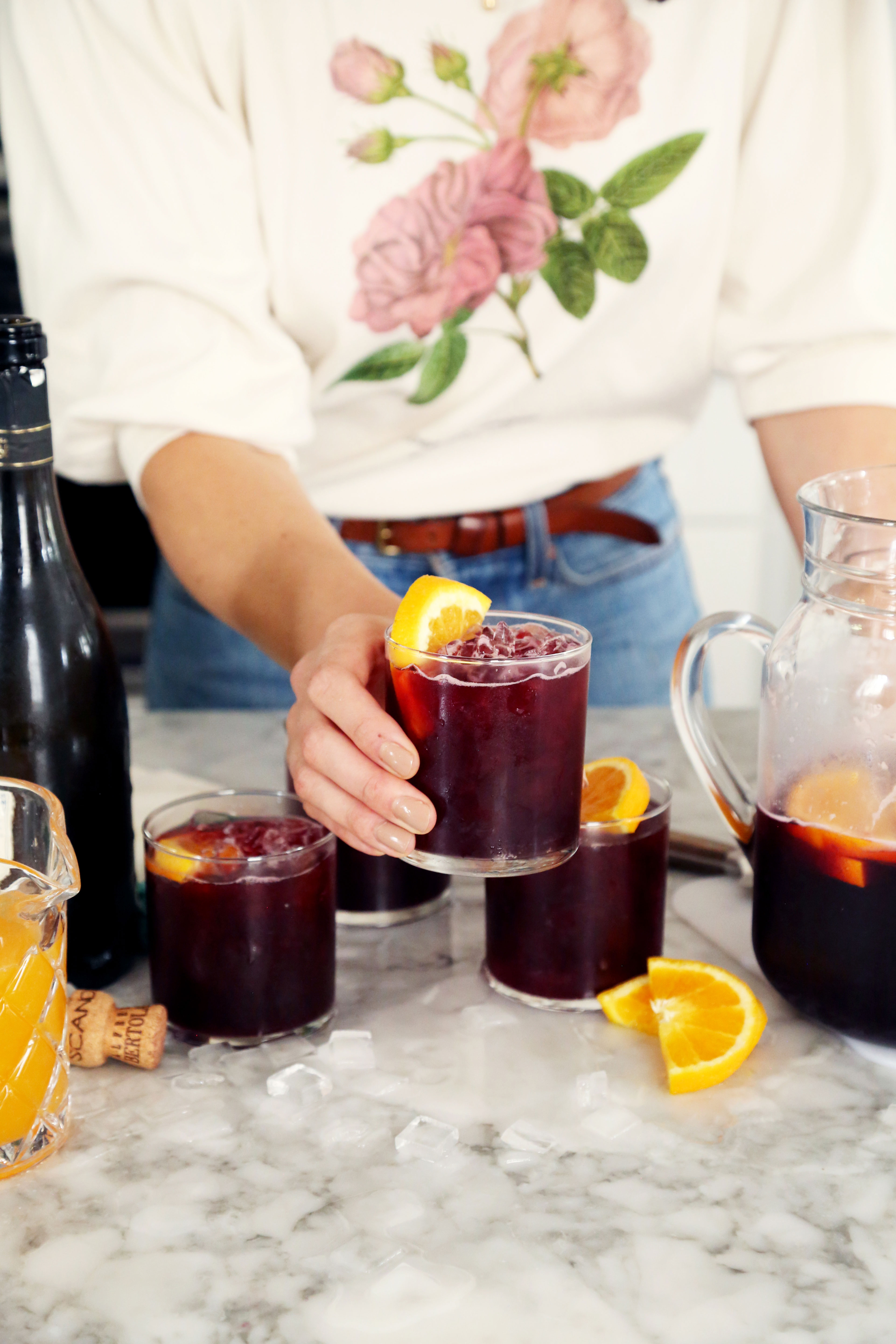 Super Simple Lambrusco Sangria
